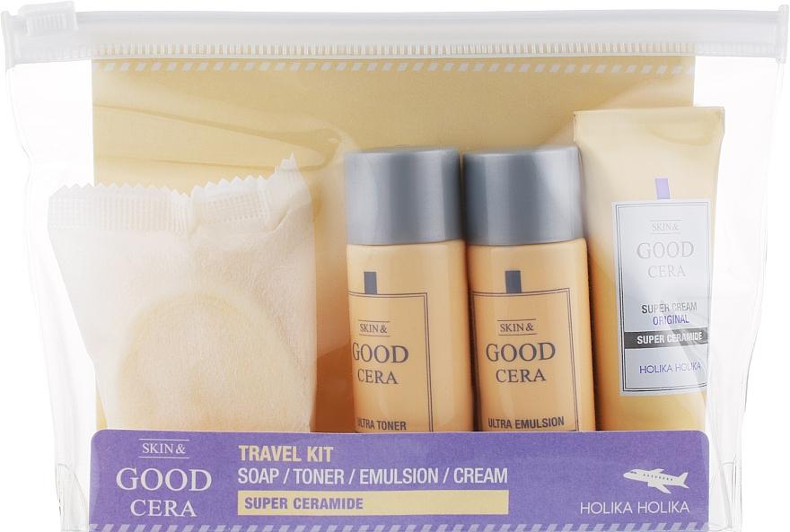 Набор - Holika Holika Skin & Good Cera Travel Kit ( soap/50g + toner/30ml + emul/30ml + cream/20ml)