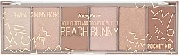 Духи, Парфюмерия, косметика Палитра хайлайтеров - Ruby Rose Beach Bunny Highlighter And Bronzer Palette