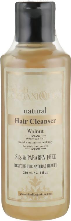 """Натуральный травяной бессульфатный аюрведический шампунь """"Грецкий орех"""" - Khadi Organique Walnut Hair Cleanser"""