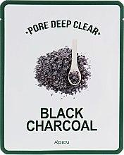Духи, Парфюмерия, косметика Тканевая маска с черным углем для очищения пор - A'pieu Pore Deep Clear Black Charcoal Mask