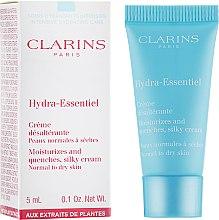 Духи, Парфюмерия, косметика Увлажняющий крем для нормальной и склонной к сухости кожи - Clarins Hydra-Essentiel Silky Cream Normal to Dry Skin (пробник)