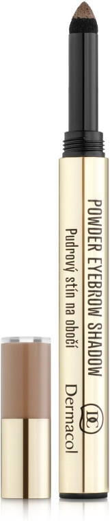 Пудровые тени для бровей - Dermacol Make-Up Powder Eyebrow Shadow