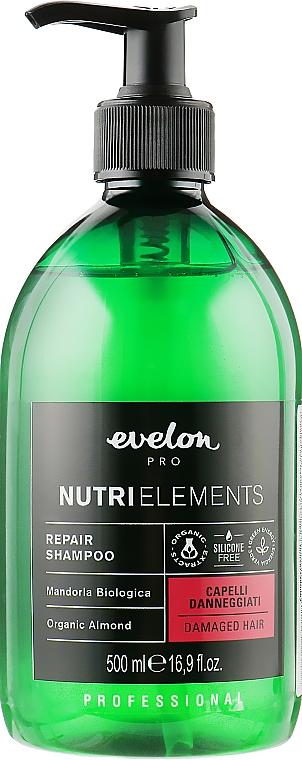 Восстанавливающий шампунь для волос - Parisienne Italia Evelon Pro Nutri Elements Repair Shampoo Organic Almond