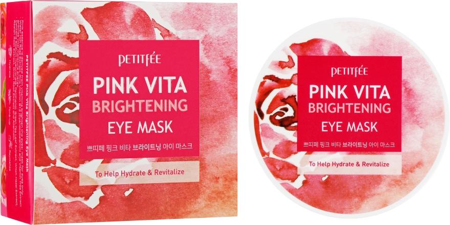 Осветляющие патчи под глаза на основе эссенции розовой воды - Petitfee&Koelf Pink Vita Brightening Eye Mask