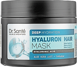 Духи, Парфюмерия, косметика Маска для глубокого увлажнения волос - Dr. Sante Hyaluron Hair Deep Hydration Mask