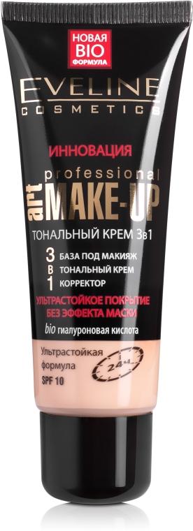 Ультрастойкий тональный крем 3в1 SPF10 - Eveline Cosmetics 3в1 Art Professional Make Up
