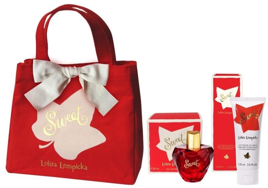 Lolita Lempicka Sweet - Набор (edp/50 + b/lot/75ml + bag)