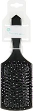 Духи, Парфюмерия, косметика Расческа для волос массажная, квадратная, 412416, черная - Beauty Look