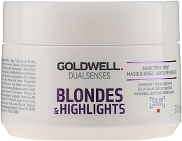 Парфумерія, косметика Маска для освітленого та мельованого волосся - Goldwell Dualsenses Blondes & Highlights 60sec Treatment
