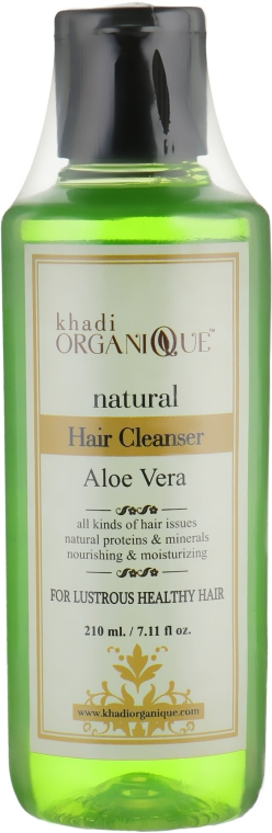 "Натуральный травяной аюрведический шампунь ""Алоэ вера"" - Khadi Organique Hair Cleanser Aloe Vera"