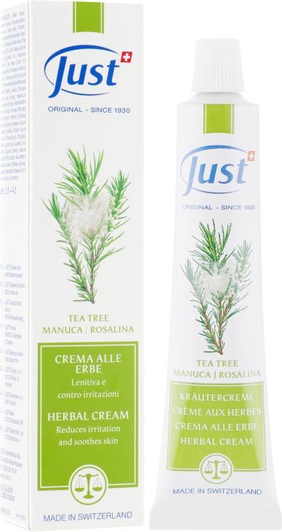 Антисептический фитокрем против прыщей и воспалений c чайным деревом - Just Tea Tree Rosalina Cream