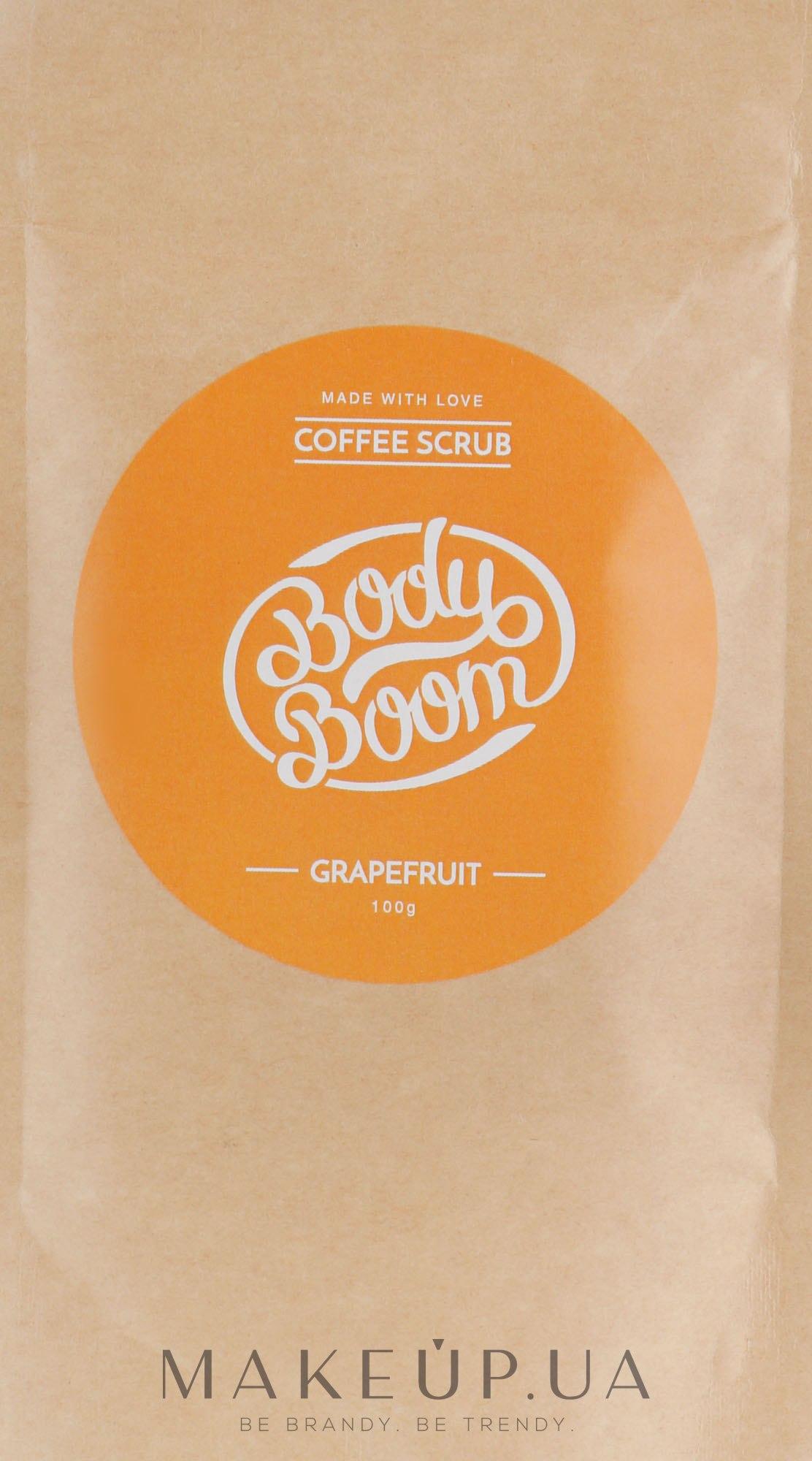 Кофейный скраб, грейпфрутовый - Body Boom Coffee Scrub Grapefruit — фото 100g