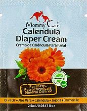 Духи, Парфюмерия, косметика Крем под подгузник с алоэ вера и органической календулой - Mommy Care Calendula Diaper Cream (пробник)