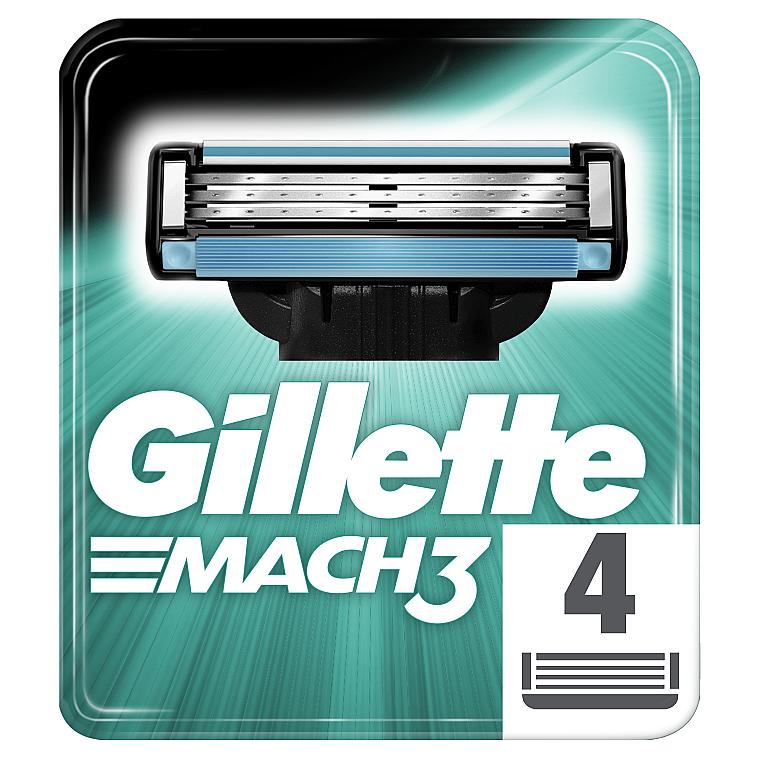 Сменные кассеты для бритья, 4 шт. - Gillette Mach3