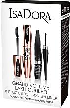 Духи, Парфюмерия, косметика Набор - Isadora Grand Volume Lash Curler (mascara/9ml + eyeliner/1ml)