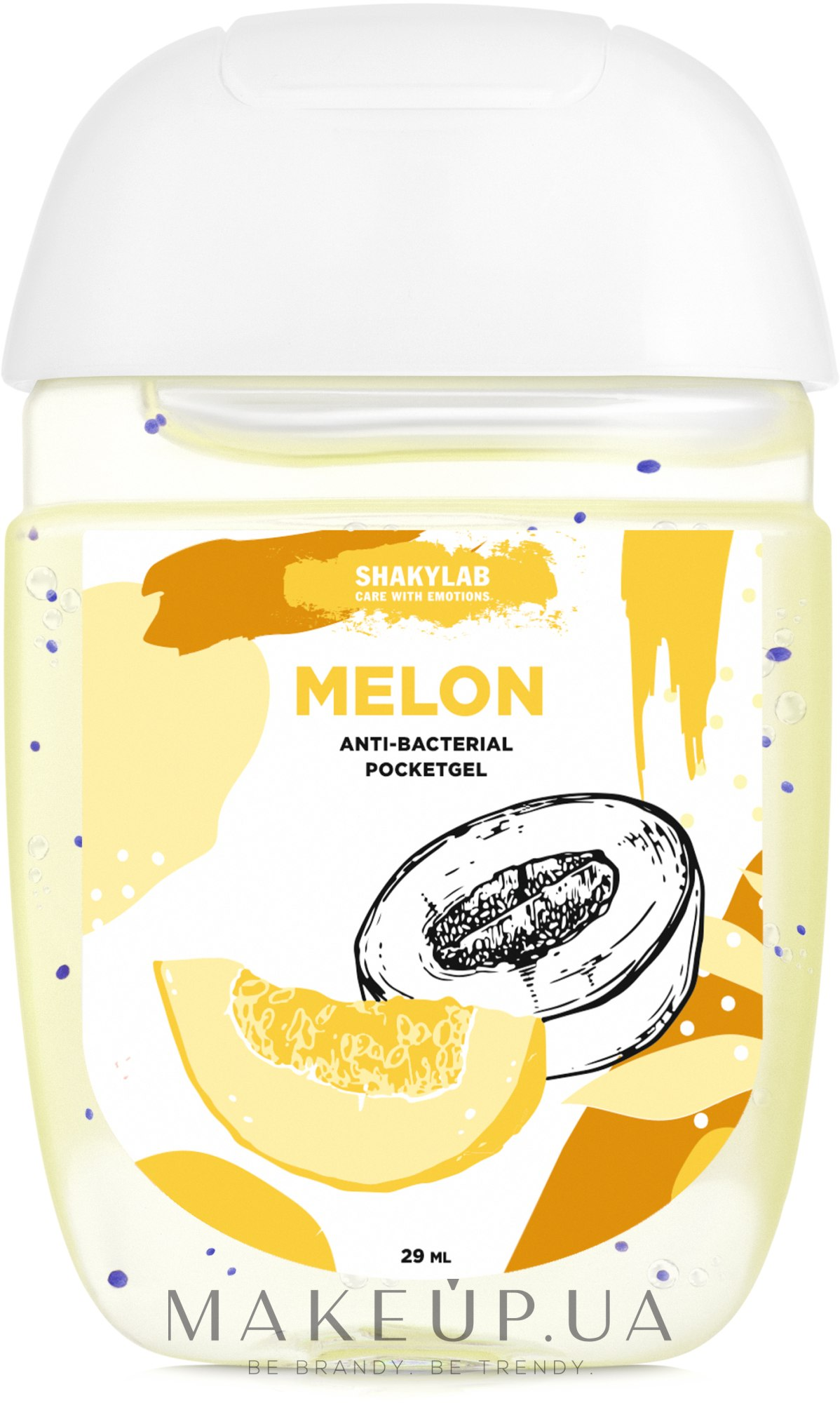 "Антибактериальный гель для рук ""Melon"" - SHAKYLAB Anti-Bacterial Pocket Gel — фото 29ml"