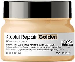 Духи, Парфюмерия, косметика Золотистая маска для интенсивного восстановления поврежденных волос без утяжеления - L'Oreal Professionnel Serie Expert Absolut Repair Gold Quinoa+Protein Resurfacing Golden Masque