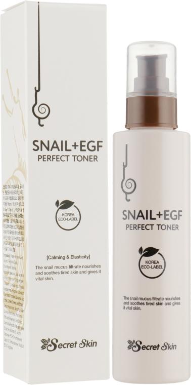 Тонер для лица с экстрактом улитки Secret Skin - Snail+Egf Perfect Toner