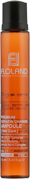 Ампула-филлер для восстановления поврежденных волос - Floland Premium Keratin Change Ampoule
