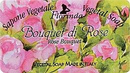 """Духи, Парфюмерия, косметика Мыло натуральное """"Букет роз"""" - Florinda Sapone Vegetale Vegetal Soap Rose Bouquet"""