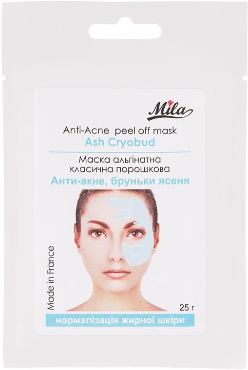 """Маска альгинатная классическая порошковая """"Анти-акне, почки ясеня"""" - Mila Anti-Acne Peel Off Mask Ash Cryobud"""