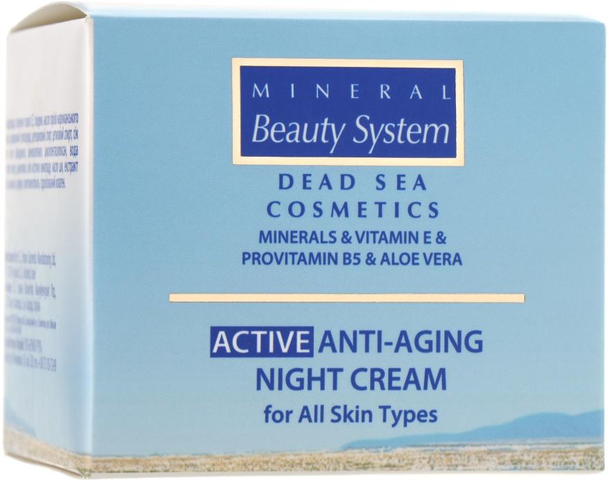 Антивозрастной ночной крем для всех типов кожи 40+ - Mineral Beauty System Active Anti-Aging Night Cream — фото N1