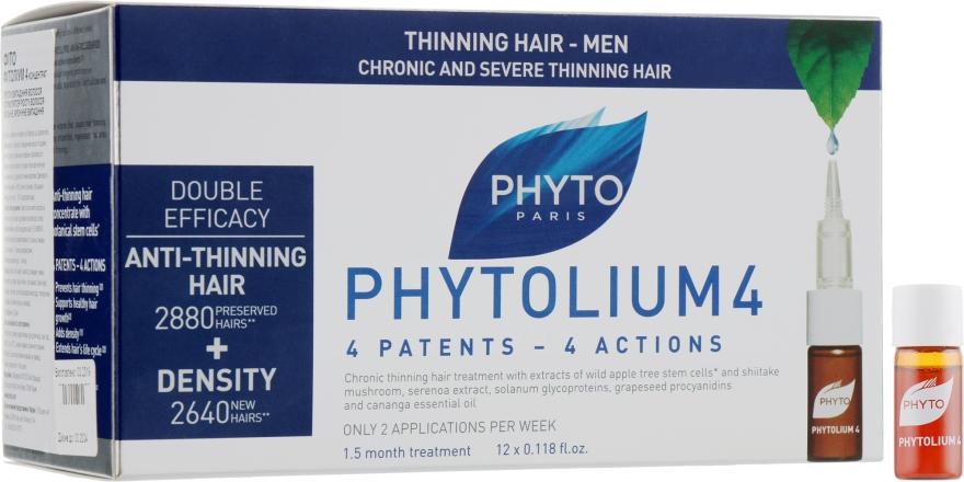 Концентрат проти випадіння волосся - Phyto 4 Phytocyane — фото N1
