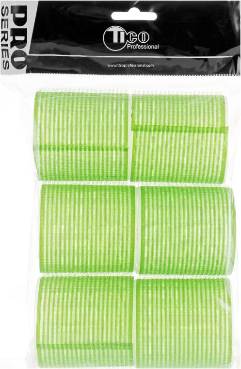 Бигуди липучки d57 мм, зеленые - Tico Professional