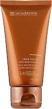 Сонцезахисний регенеруючий крем SPF 40+ - Academie Bronzecran Face Age Recovery Sunscreen Cream — фото N1