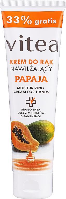 Увлажняющий крем для рук с папайей - Vitea Moisturizing Hand Cream Papaja