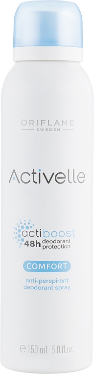 Спрей дезодорант-антиперспирант с ухаживающим комплексом - Oriflame Activelle Comfort Anti-Perspirant Deodorant