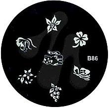 Духи, Парфюмерия, косметика Диск для стемпинга, B-86 - Nails Molekula