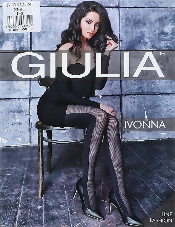 """Колготки для женщин """"Ivonna. Model 1"""" 60 Den, nero - Giulia"""