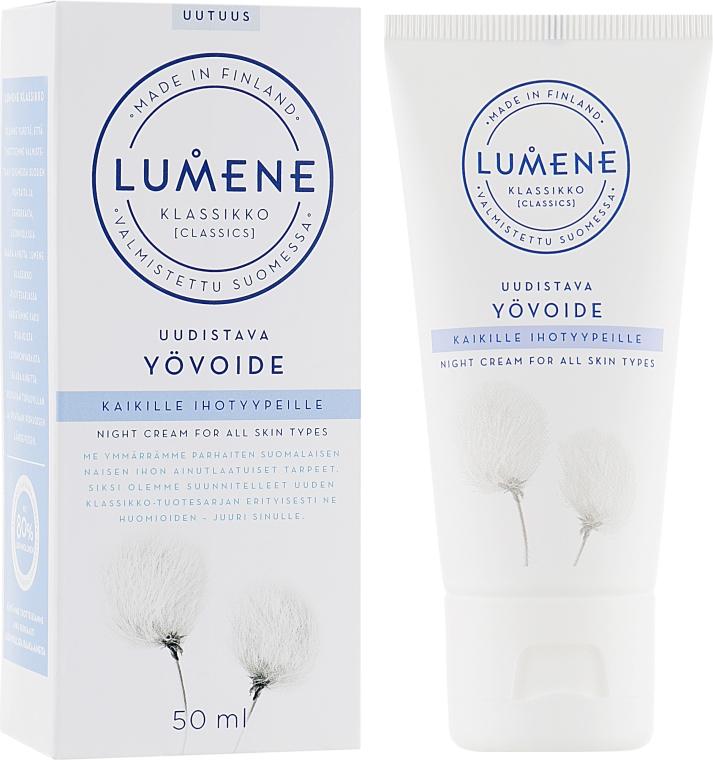 Восстанавливающий ночной крем для всех типов кожи - Lumene Klassikko Restoring Night Cream