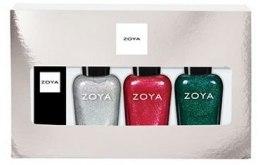 Духи, Парфюмерия, косметика Подарочный набор - Zoya Lips & Tips Quad Gift Set Santa Baby
