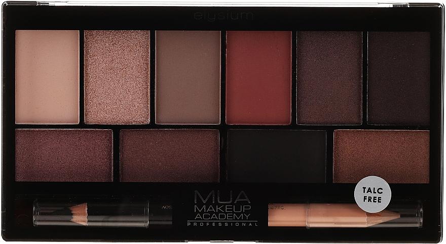 Палетка теней для глаз - MUA Elysium Eyeshadow Palette