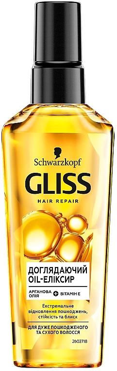 Ухаживающее масло для очень поврежденных и сухих волос - Gliss Kur Oil Nutritive Elixir