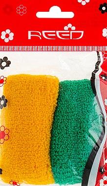 Набор резинок для волос, 7583, 2шт, желтая + зеленая - Reed — фото N1