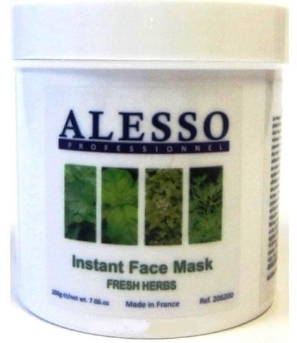 """Противовоспалительная растворимая маска """"Свежие травы"""" - Alesso Professionnel Instant Face Mask"""