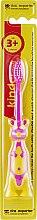 Духи, Парфюмерия, косметика Детская зубная щетка с мягкой щетиной, желто-розовая - Das Experten