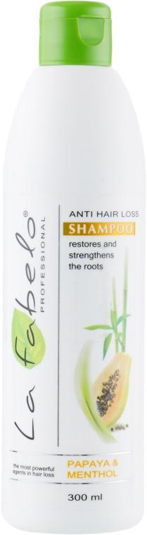 Шампунь против выпадения волос - La Fabelo Papaya & Seaweed Shampoo