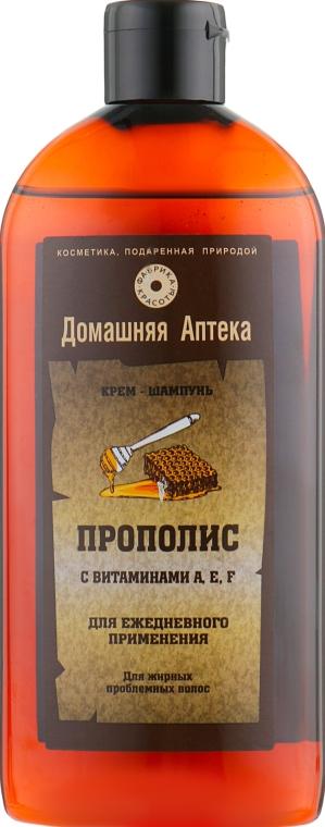 Крем-шампунь Прополис с витаминами A,E,F - Фабрика красоты Домашняя Аптека