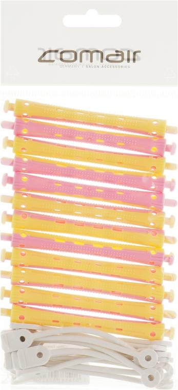 Бигуди для холодной завивки, жёлто-розовые, d8 - Comair