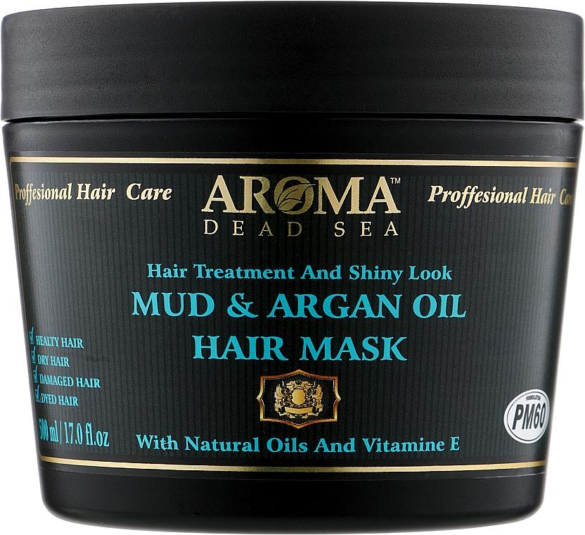 Маска для волос с натуральным аргановым маслом и минералами Мертвого моря - Aroma Dead Sea Mud & Argan Oil Hair Mask