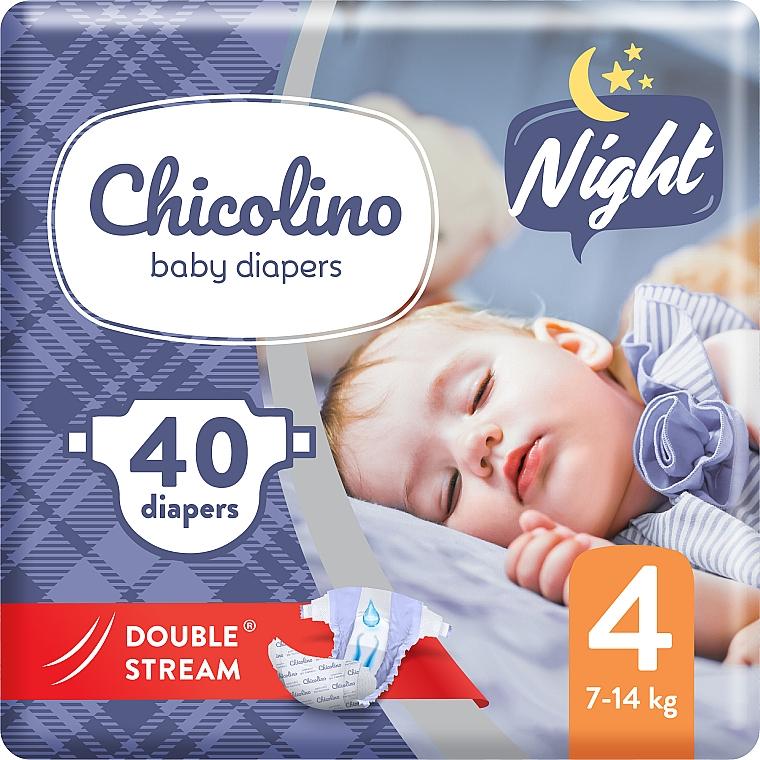 Подгузники детские Night 4 (7-14кг), 40 шт - Chicolino