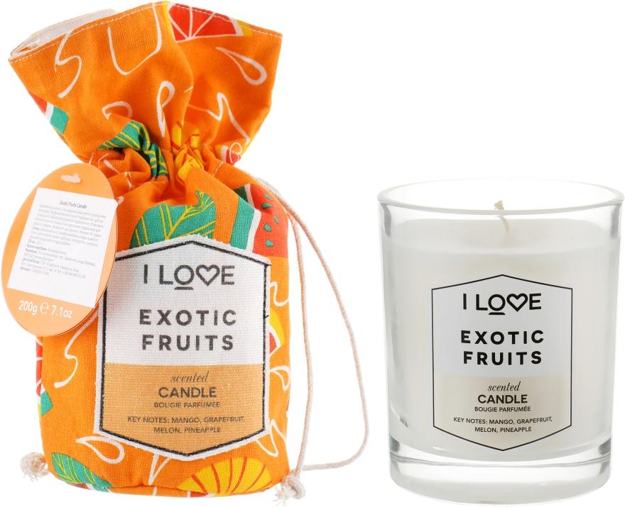 """Ароматическая свеча """"Экзотические фрукты"""" - I Love Exotic Fruits Scented Candle"""
