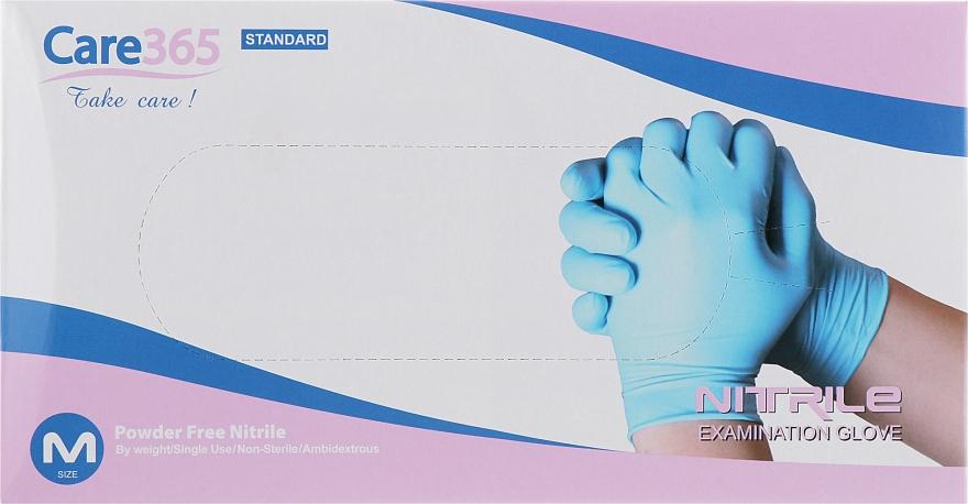 Рукавички нітрилові, непудровані, блакитні, розмір М - Avenir Cosmetics — фото N3