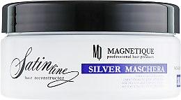 Духи, Парфюмерия, косметика Маска с эффектом анти-желтизны и протеинами шелка для светлых волос - Magnetique Mask Silver Satin Line