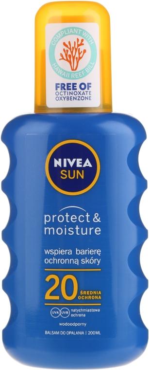 Сонцезахисний спрей SPF20 - Nivea Sun Care Spray Solare Inratante — фото N5