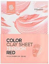 Духи, Парфюмерия, косметика Глиняная листовая маска для лица - G9Skin Color Clay Sheet Tension Red
